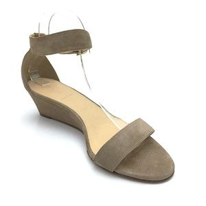 J Crew Made in Italy Lillian Suede Low Wedges